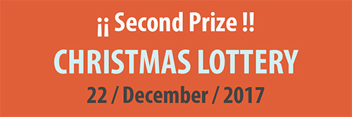 Second Prize Christmas Lottery 2017